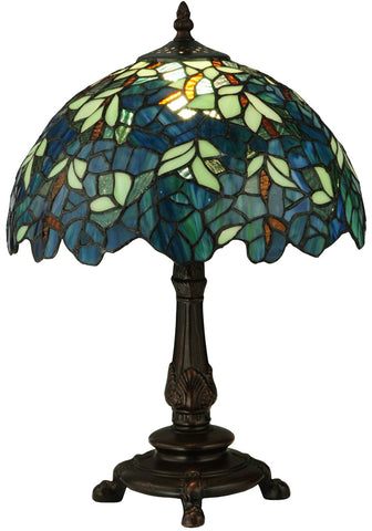 Tiffany collection interior lighting tagged table lamps meyda tiffany 124813 nightfall wisteria accent table lamp aloadofball Images