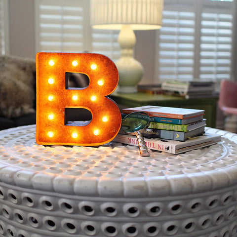 "Vintage Marquee 12"" Letter B"
