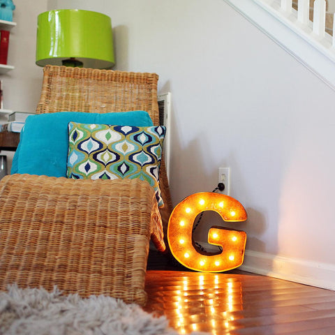 "Vintage Marquee 12"" Letter G"