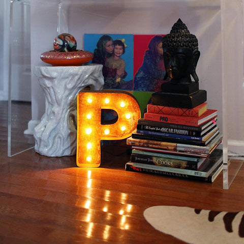 "Vintage Marquee 12"" Letter P"