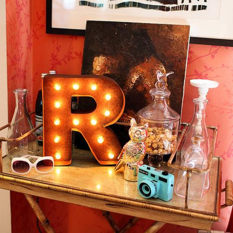 "Vintage Marquee 12"" Letter R"