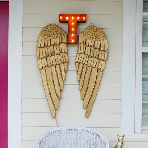 "Vintage Marquee 12"" Letter T"