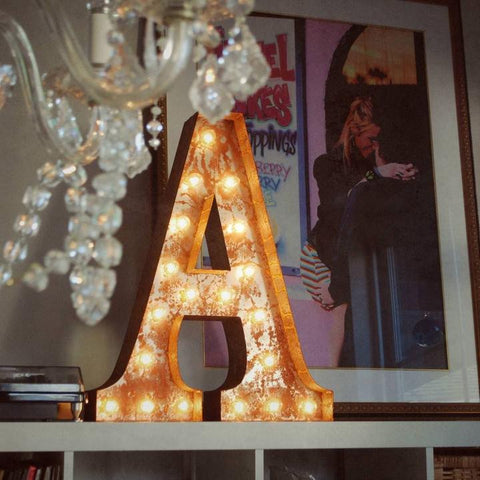 "Vintage Marquee 24"" Letter A"