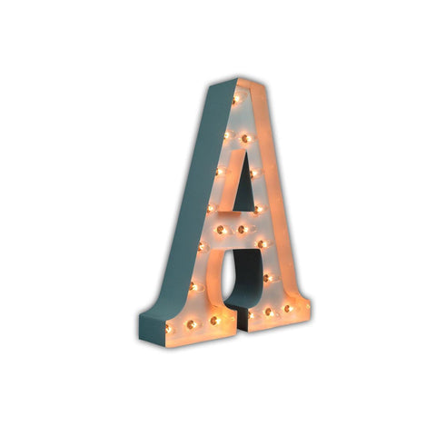 "Vintage Marquee 24"" Letter A (Glossy White)"