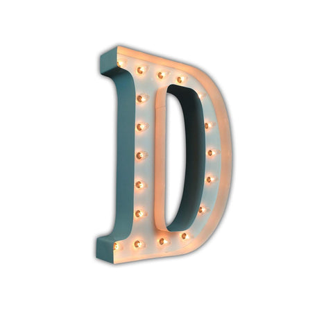 "Vintage Marquee 24"" Letter D (Glossy White)"