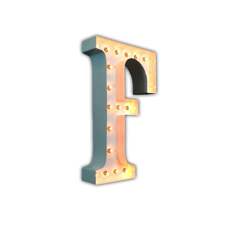 "Vintage Marquee 24"" Letter F (Glossy White)"