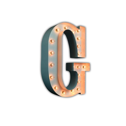 "Vintage Marquee 24"" Letter G (Glossy White)"