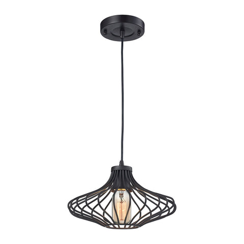 ELK Lighting 14240/1 Yardley 1-Light Pendant, Oil Rubbed Bronze