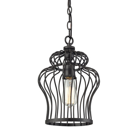 ELK Lighting 14242/1 Yardley 1-Light Pendant, Oil Rubbed Bronze