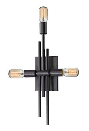 ELK Lighting 14251/3 Parallax 3-Light Sconce, Oil Rubbed Bronze