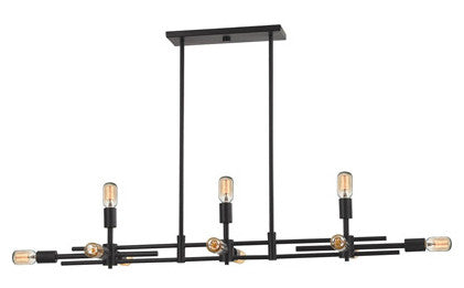 ELK Lighting 14253/6+5 Parallax 11-Light Island, Oil Rubbed Bronze