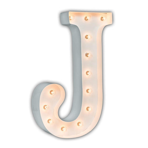"Vintage Marquee 24"" Letter J (Glossy White)"