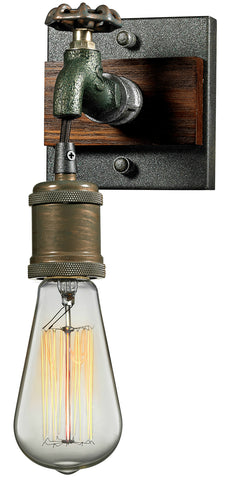 ELK Lighting 14280/1 Jonas 1-Light Sconce, Multi-Tone Weathered