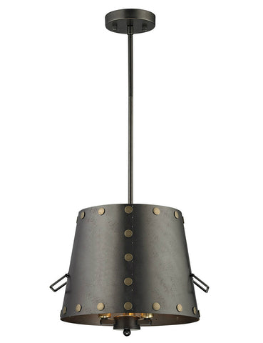 ELK Lighting 14301/3 Ephrata 3-Light Pendant, Weathered Iron