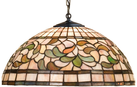 Meyda Tiffany 17531 3-Light Turning Leaf Large Pendant