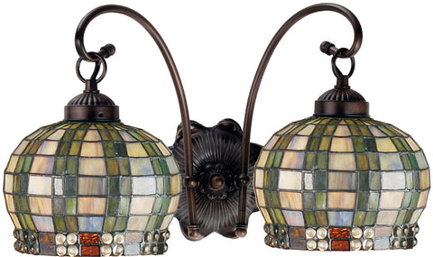 Meyda Tiffany 19014 2-Light Jeweled Basket Wall Sconce