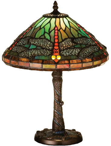 Meyda Tiffany 26683 Mosaic Dragonfly Accent Table Lamp