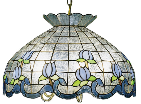 Meyda Tiffany 19137 Roseborders Large Pendant, Ice Blue