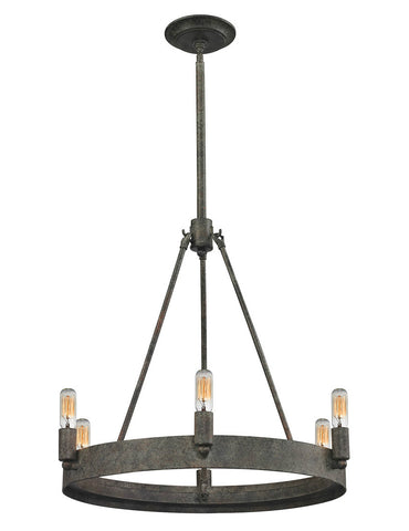 ELK Lighting 31820/6 Lewisburg 6-Light Chandelier, Malted Rust