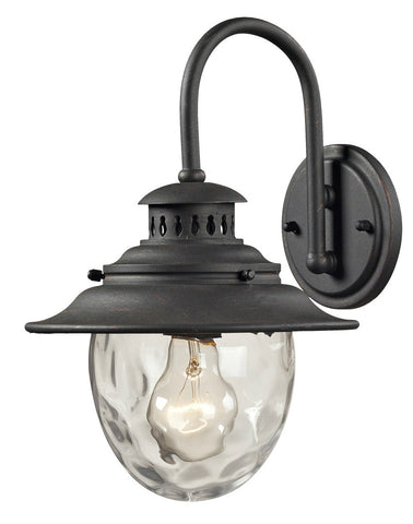 ELK Lighting 45040/1 Searsport 1-Light Outdoor Wall Sconce, Weathered Charcoal