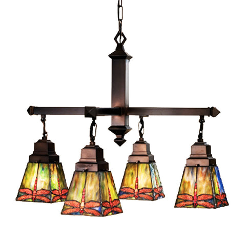Meyda Tiffany 48035 4-Light Prairie Dragonfly Chandelier