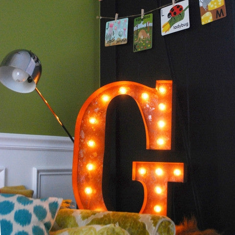 "Vintage Marquee 24"" Letter G"