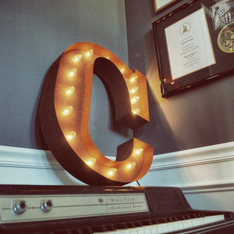 "Vintage Marquee 24"" Letter C"