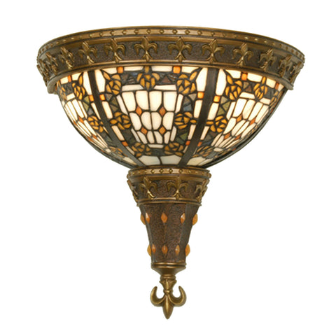 Meyda Tiffany 19819 2-Light FleurdeLis Wall Sconce