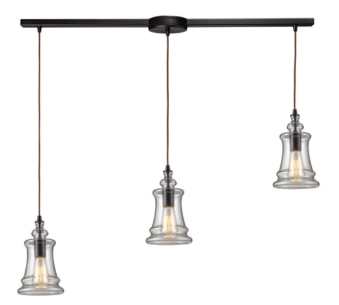 ELK Lighting 60042-3L Menlow Park 3-Light Island Pendant, Oiled Bronze
