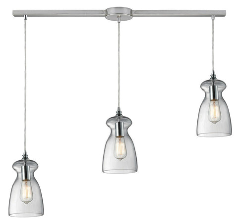 ELK Lighting 60053-3L Menlow Park 3-Light Island Pendant, Polished Chrome