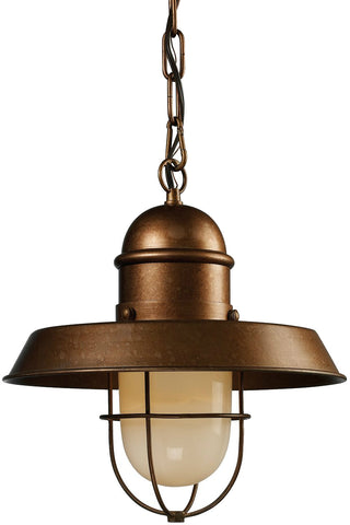 ELK Lighting 65049-1 Farmhouse Mini Pendant, Antique Brass