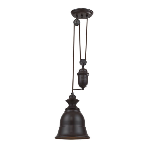 ELK Lighting 65070-1 Farmhouse Pendant, Oiled Bronze