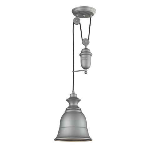 ELK Lighting 65080-1 Farmhouse 1-Light Mini Pendant, Aged Pewter