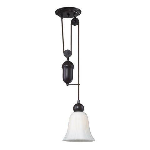 ELK Lighting 65090-1 Farmhouse 1-Light Mini Pendant, Oiled Bronze