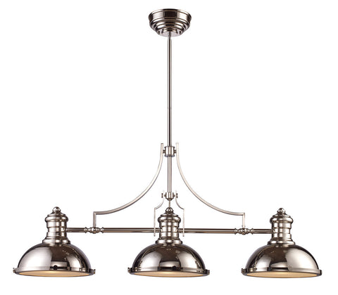 ELK Lighting 66115-3 Chadwick 3-Light Billiard/Island, Polished Nickel