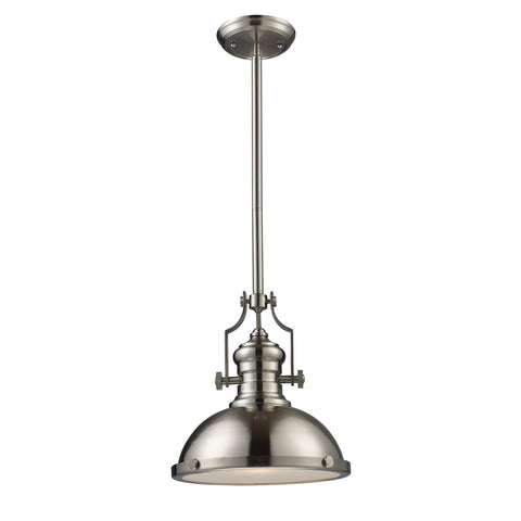 ELK Lighting 66124-1 Chadwick Large Pendant, Satin Nickel