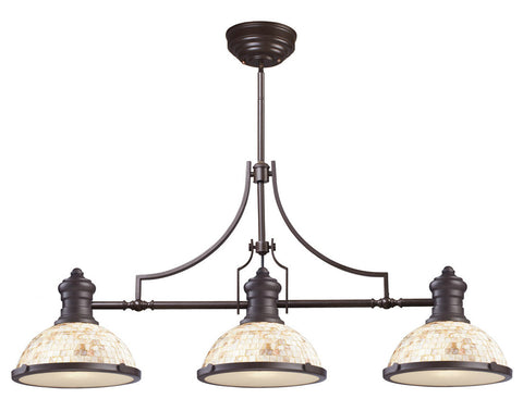 ELK Lighting 66435-3 Chadwick 3-Light Billiard/Island, Oiled Bronze