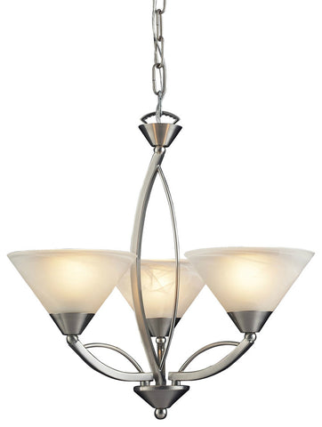 ELK Lighting 7635/3 Elysburg 3-Light Chandelier, Satin Nickel