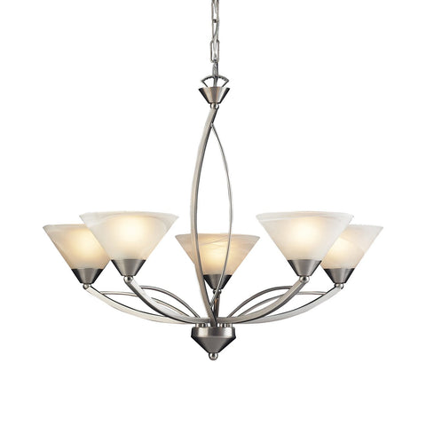 ELK Lighting 5-Light Elysburg Uplight Chandelier - Satin Nickel