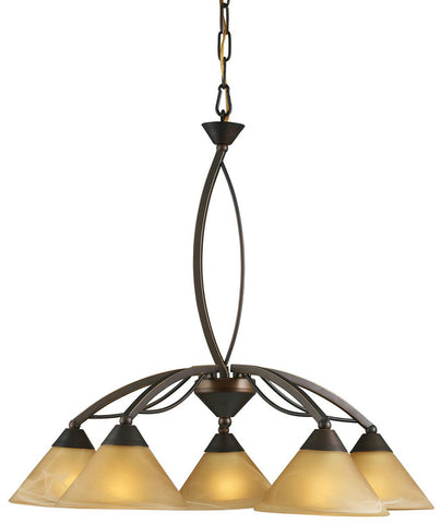 ELK Lighting 7646/5 5-Light Elysburg Downlight Chandelier, Aged Bronze
