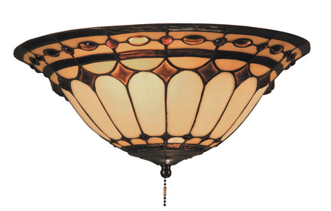 ELK Lighting 990-J Diamond Ring 2-Light Flush Mount, Burnished Copper