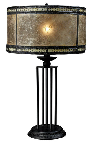 Dimond D1849 Mica Filagree 1-Light Table Lamp, Antique Black