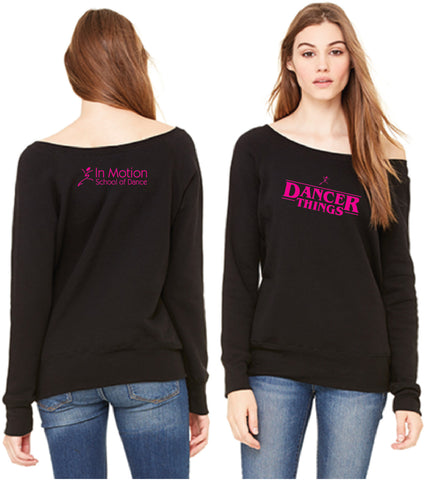 Dancer Things Off the Shoulder Sweatshirt