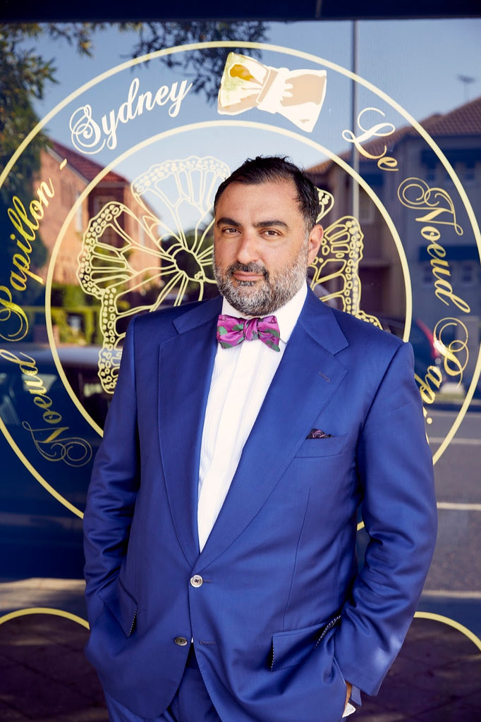 e94bfeeadac7 Nicholas Atgemis, Founder Of Le Noeud Papillon Of Sydney, The Self Tying Bow  Tie