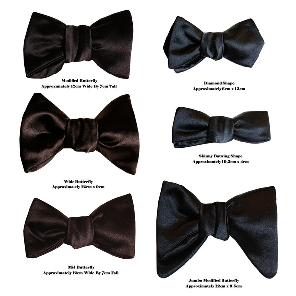 Different Bow Tie Shapes Explained