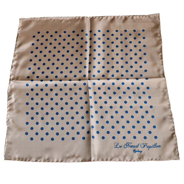 Pochette Cream And Blue Polka Dot - New!!!
