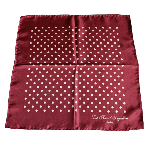 Pochette - Burgundy With Cream Spot - New!