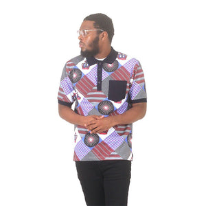 Mens Afrocentric Polo Shirt