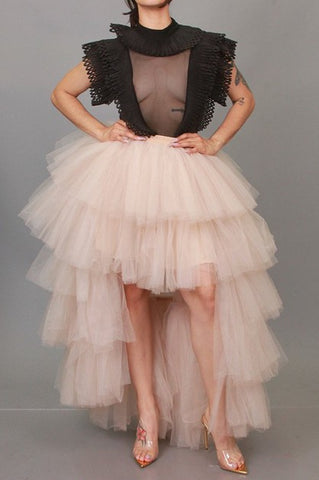 High Low Elegant Tulle Skirt