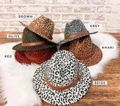 Load image into Gallery viewer, Animal Print Fedoras
